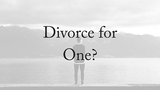 Divorce for One-