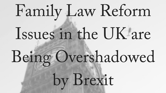No Fault Divorce Reform Overshadowed